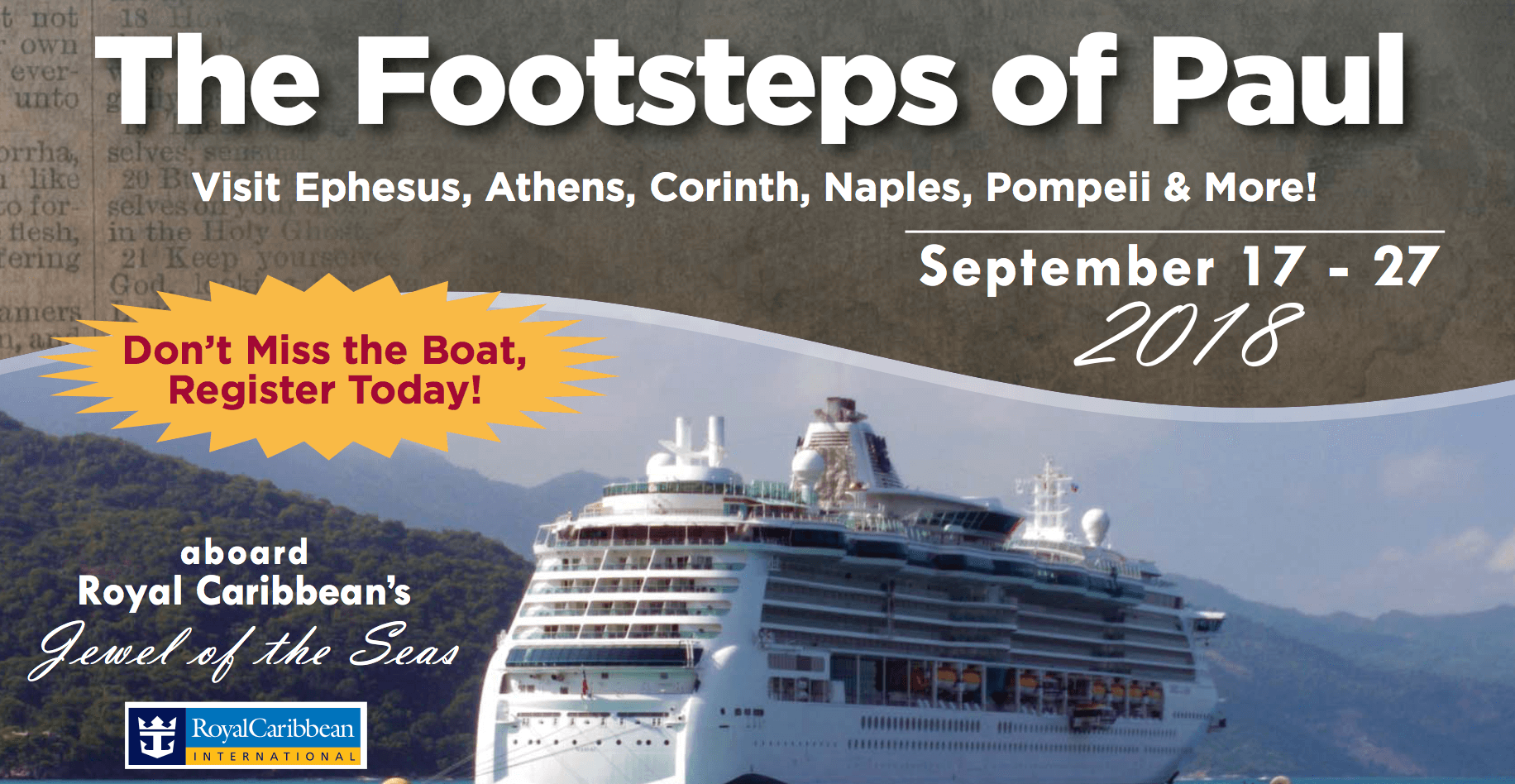 Footsteps Of Paul Cruise 2018