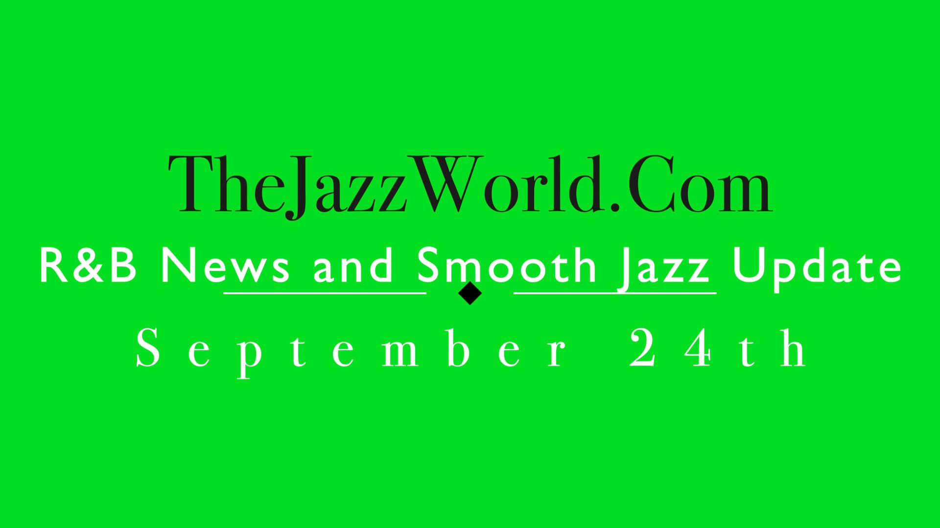 The Jazz World Show 9:24